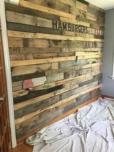 Pallet, Board, Wall, In, Kitchen