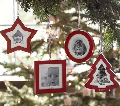 picture frame christmas tree ornaments frame ornaments pottery barn