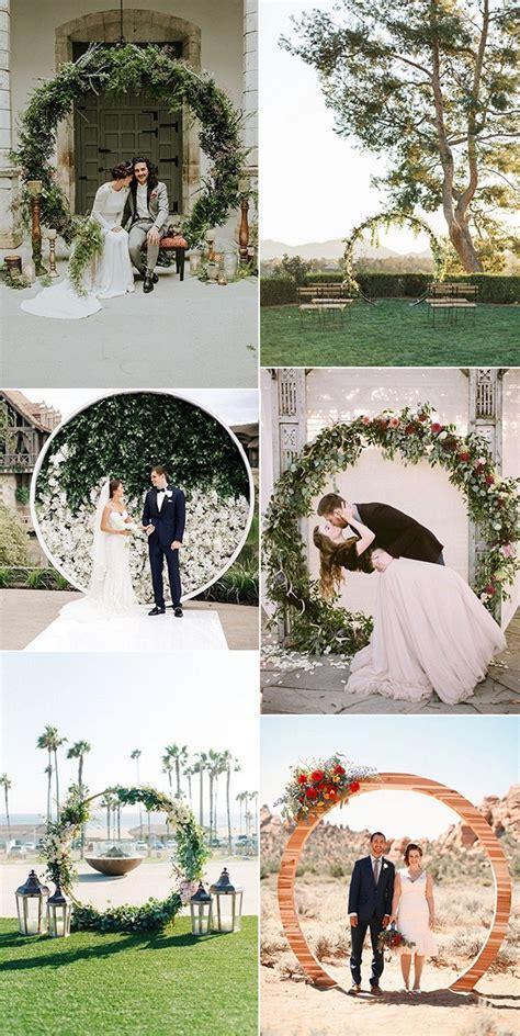 top  pretty circular wedding arches   trends