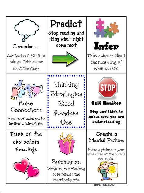 4 Best Images Of Free Printable Bookmarks Reading Strategies  Reading Strategies Bookmarks