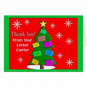letter carrier quotthank youquot notecards card zazzlecom With letter carrier thank you cards for customers