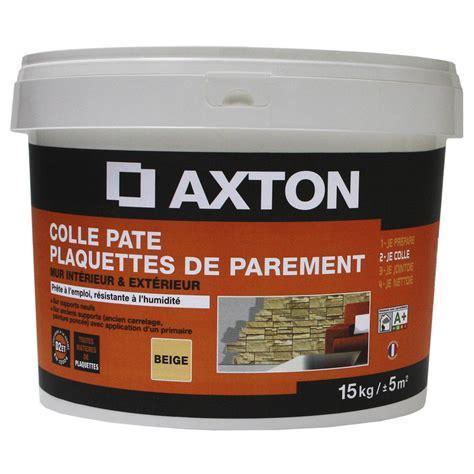 colle en p 226 te pr 234 t 224 l emploi pour plaquette de parement mur 15 kg beige leroy merlin