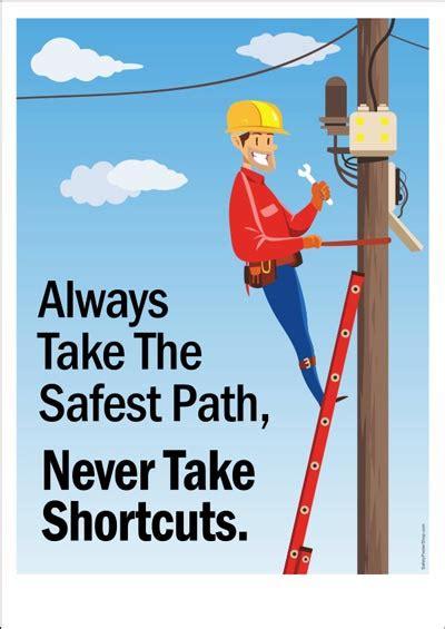 safest path safety poster shop safety