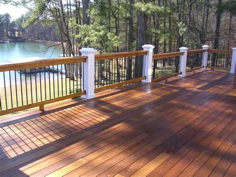 image  stained decks  woodrich brand hardwood