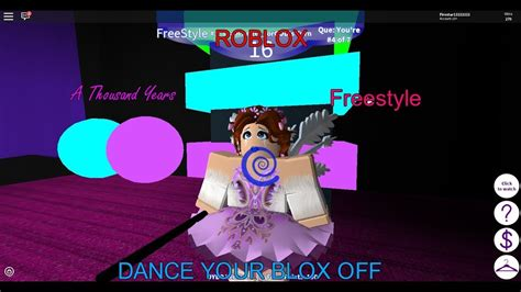 roblox dance  blox   thousand years freestyle