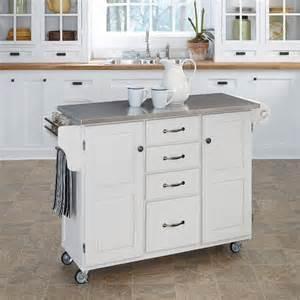 Stainless Kitchen Islands White Stainless Kitchen Cart