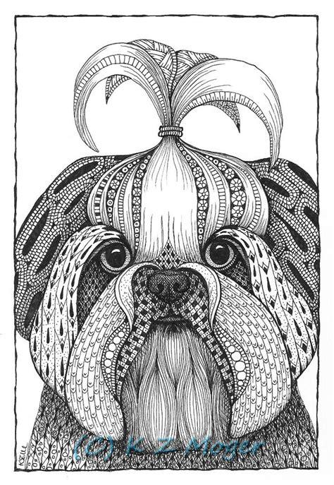 small breed dog portraits matted print  original