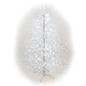 white pre lit artificial christmas tree