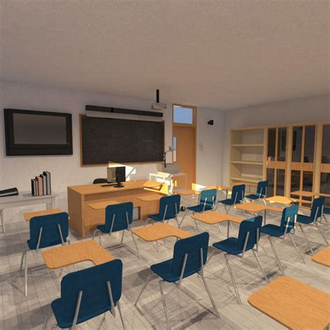 classroom university  model cgtrader