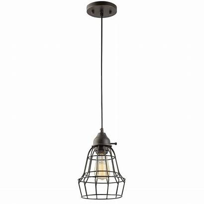 Pendant Hanging Bronze Caged Oil Rubbed Lights