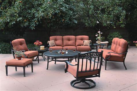 patio furniture seating set cast aluminum 8pc charleston