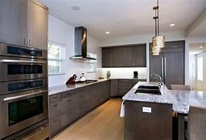 Contemporary Dark Grey Kitchen & Bath