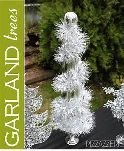 Black, U0026, White, Snowman, Holiday, Table, U0026, Diy, Garland, Trees