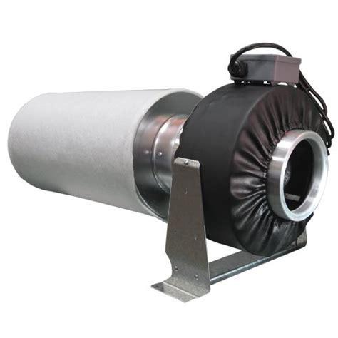 """Virtual Sun 8"""" Inline Exhaust Grow Light Fan  Carbon Air"""