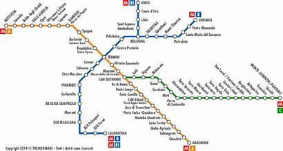 Roma Metro Mappa Metropolitana Rome Cartina Milano