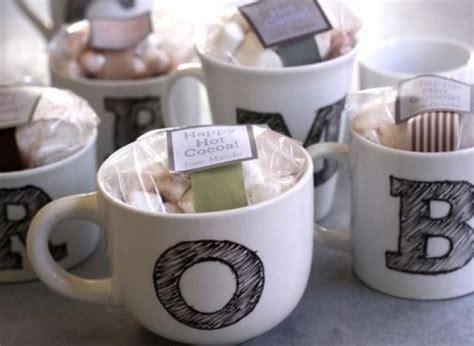 homemade gift ideas monogrammed mugs huffpost