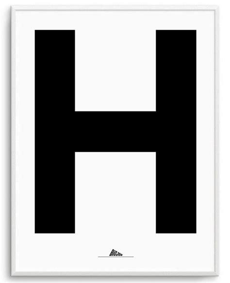 Letter Print by Letter H Print Bigjon