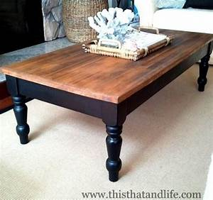 DIY farmhouse coffee table makeover I could do this with
