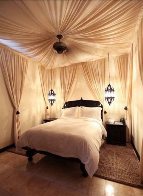 draped ceiling wallsbedroom design