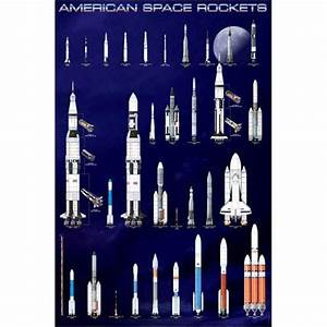 American Space Rockets Poster by xUmp.com