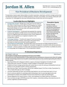 Vp Business Development Resume by Professional Resume Sles By Julie Walraven Cmrw