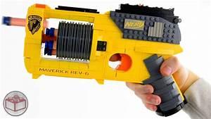 Working Lego Nerf Gun  Maverick Rev-6