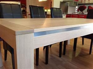 Table Bois Blanchi : table chene massif ~ Teatrodelosmanantiales.com Idées de Décoration