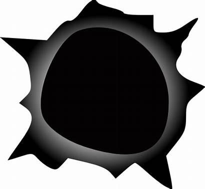 Hole Bullet Clipart Holes Cartoon Edge Vector