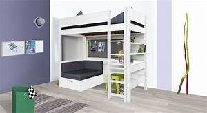 Hochbett Mit Schreibtisch Günstig : hochbett mit sofa optionalem schreibtisch bestellen kids town ~ Frokenaadalensverden.com Haus und Dekorationen