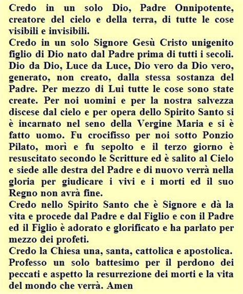 Preghiera Credo Testo by Preghiere