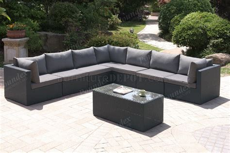 411 outdoor patio 8pc sectional sofa set by poundex w options