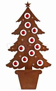 Weihnachtsbaum Metall Design : metall rost weihnachtsbaum mit roten kugeln geschm ckt stockfoto colourbox ~ Frokenaadalensverden.com Haus und Dekorationen