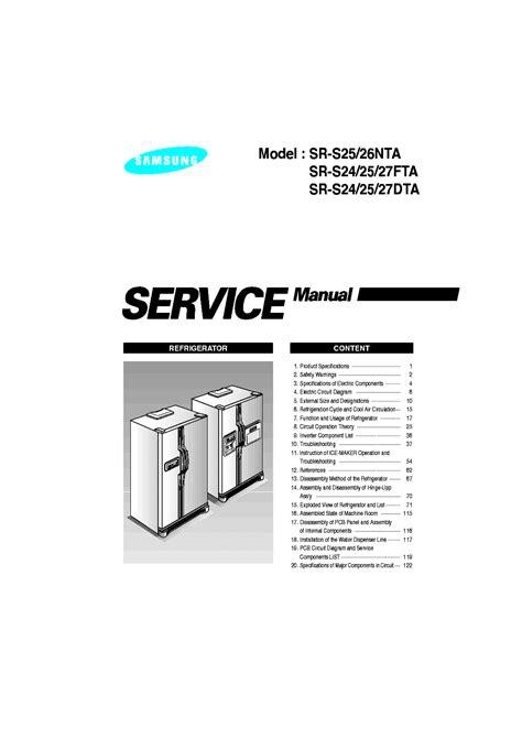 samsung sr s25 26nta sr s24 25 27fta sr s24 25 27dta service manual schematics eeprom
