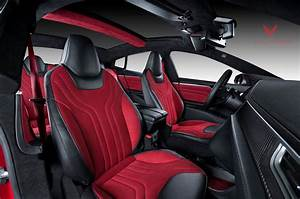Tesla Model S Is Red and Ready for Christmas Thanks to Vilner - autoevolution