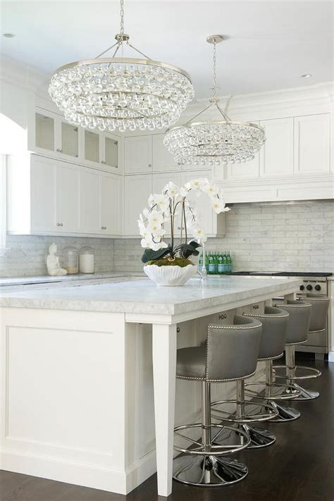 kitchen island chandelier kitchen island with robert abbey bling chandeliers transitional kitchen