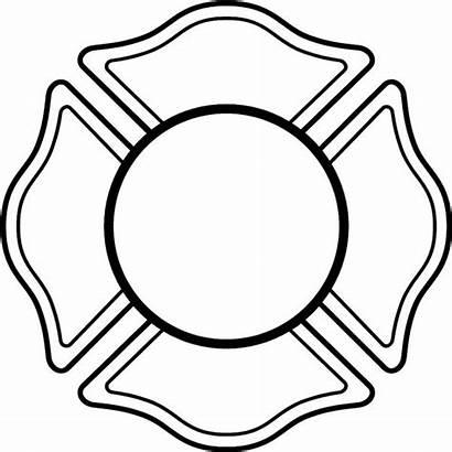 Coloring Cross Maltese Fire Department