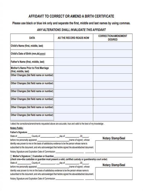 correction affidavit forms   documents  word