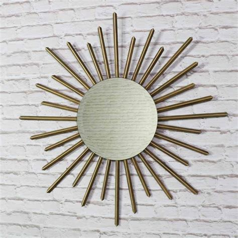 large gold metal sunburst wall mirror windsor browne