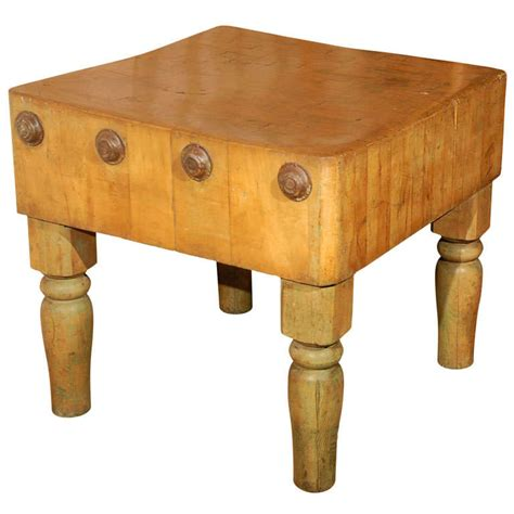 butcher block top late 19th century oak butcher block table at 1stdibs