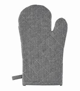 Gant De Cuisine Anti Chaleur : gant de cuisine anti chaleur lin et coton noir et blanc ~ Dode.kayakingforconservation.com Idées de Décoration