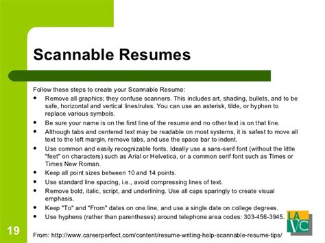 How To Make A Scannable Resume by Resume And Cover Letters