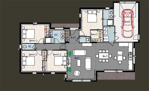 plan maison 4 chambres suite parentale plan maison plain pied 3 chambres avec suite parentale et