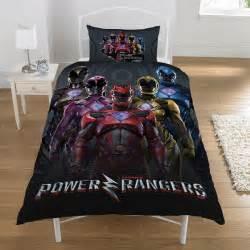 power rangers single duvet cover set reversible childrens bedding black ebay