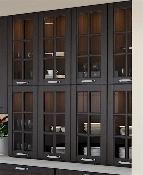 kitchen base cabinets with glass doors maximize kitchen storage space with stacked cabinets
