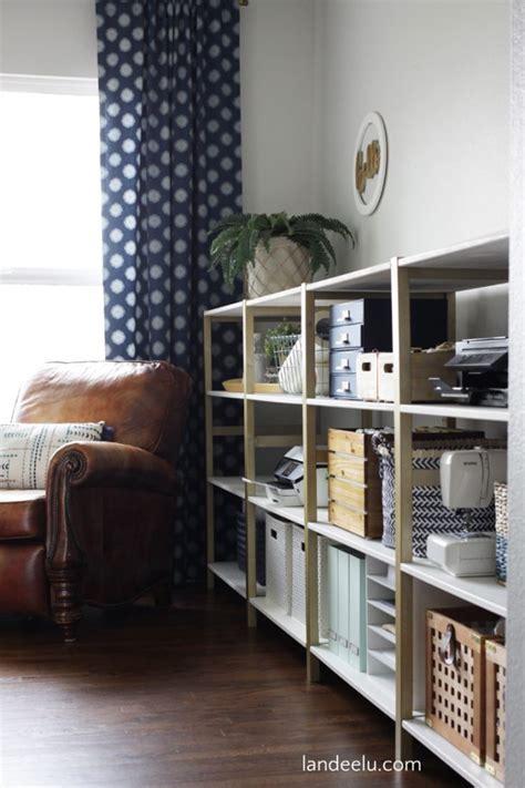 IKEA Hack: IVAR Home Office Shelves   landeelu.com