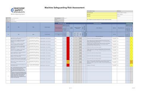 risk assessment spreadsheet intended  risk assessment