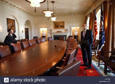 Cabinet White House by President Obama Surveys The Cabinet Room While Touring The