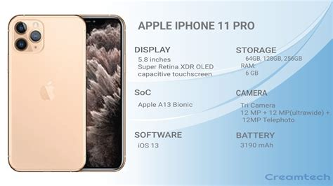 apple iphone pro specifications