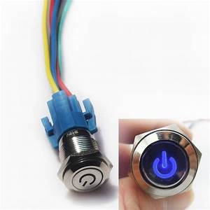 16mm 12v Car Push Button Toggle Switch With Socket Plug
