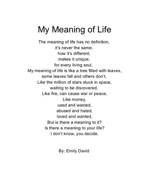 Wordless - My Meaning of Life - Emily David - Wattpad